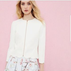 Ted Baker London Heraly scalloped trim crop jacket